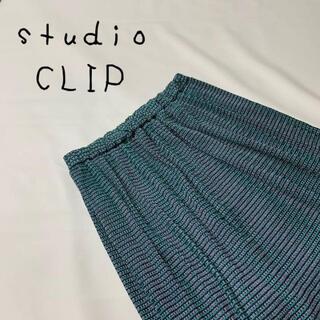 スタディオクリップ(STUDIO CLIP)のstudio CLIP スタディオクリップ ロングスカート サイズM グリーン(ロングスカート)