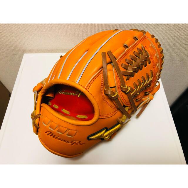 MIZUNO(ミズノ)のミズノプロ 展示会限定 硬式内野手グローブ 新品未使用 スポーツ/アウトドアの野球(グローブ)の商品写真