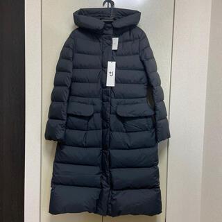 UNIQLO - 【新品 M】ユニクロ+J ロングライトダウンフーデッドコート ブラック