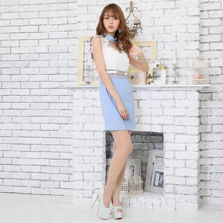 デイジーストア(dazzy store)のフラワー刺繍デコルテホールタイトミニドレス(ナイトドレス)