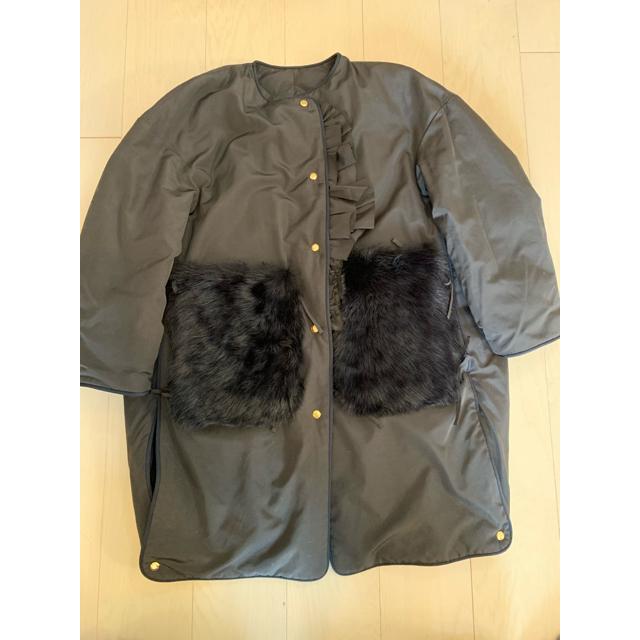 Drawer(ドゥロワー)のドゥロワー    今季 Drawer キルトダウンファーポケット コート 36 レディースのジャケット/アウター(ダウンコート)の商品写真