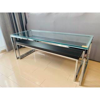 ローテーブル ガラステーブル 二段ローテーブル(ローテーブル)