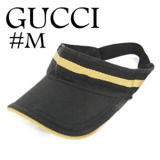 グッチ(Gucci)のグッチ #M シェリー GG キャンバス サンバイザー キャップ 帽子(その他)