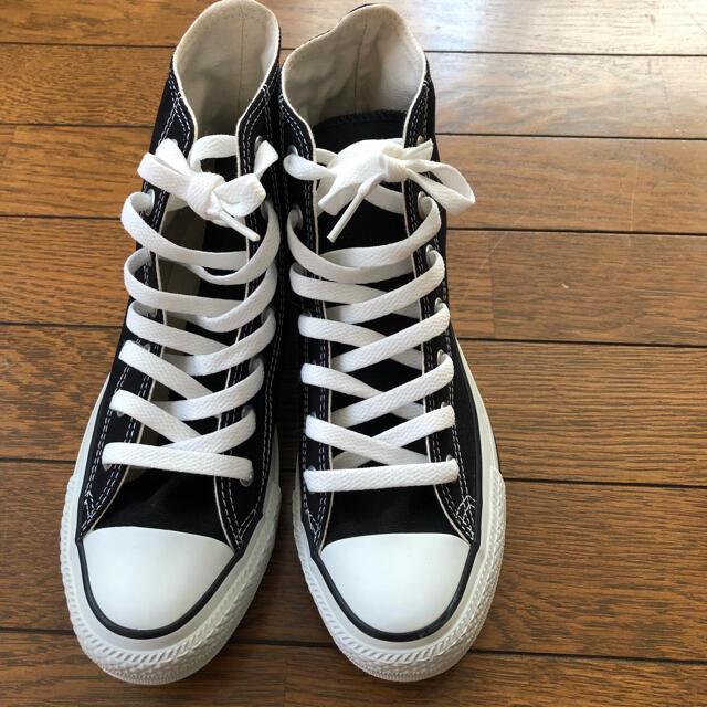 CONVERSE(コンバース)の【CONVERSE 】新品未使用 オ-ルスターハイカット24㎝ ブラック レディースの靴/シューズ(スニーカー)の商品写真