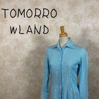 TOMORROWLAND - TOMORROWLAND トゥモローランド シャツ サイズS ストライプ 日本製