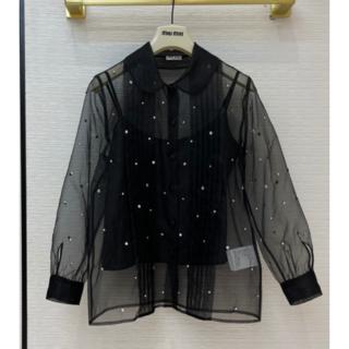 miumiu - 【MiuMiu】新作★ ブラック シャツ S