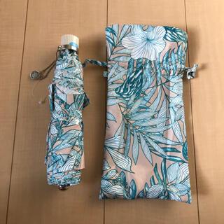 ポールアンドジョー(PAUL & JOE)のポール&ジョー アクセソワ 晴雨兼用 軽量 折り畳み傘 新品/花柄 ベージュ(傘)