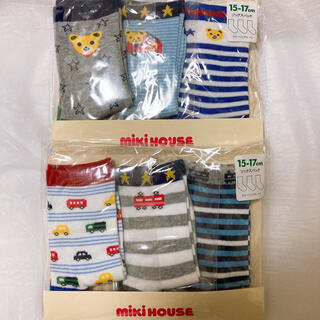 ホットビスケッツ(HOT BISCUITS)のミキハウス ソックスパック 靴下 ギフト梱包可 ダブルビー ホットビスケッツ (靴下/タイツ)