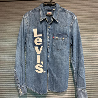 Levi's - リーバイス LEVIS デニムシャツ 美品 BIGロゴプリント デニム サイズM