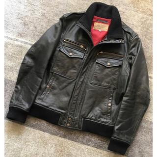 AVIREX - 最高の男服 AVIREX 馬革 シングル ライダースジャケット レザージャケット