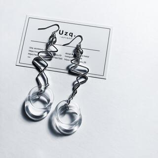 トーガ(TOGA)の【56】メタルとクリアのレイヤードピアス/イヤリング(ピアス)