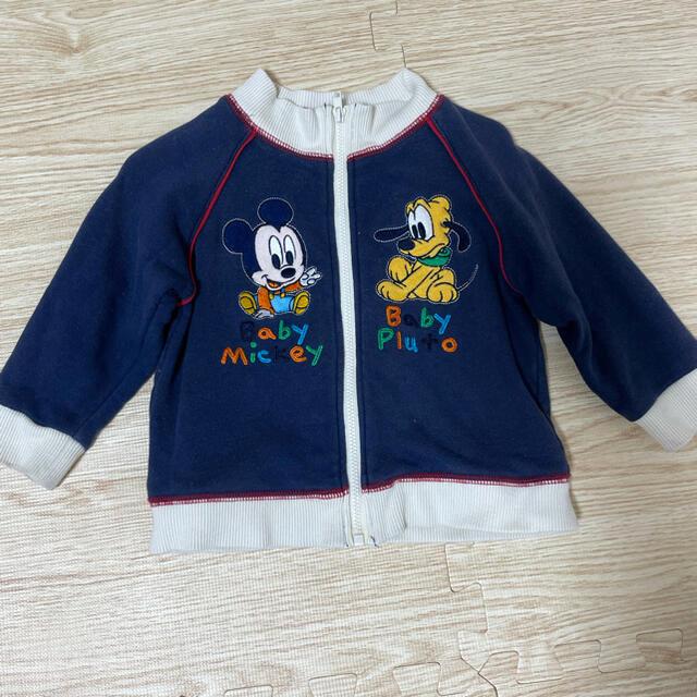 Disney(ディズニー)のディズニー パーカー ベビーミッキー 80 キッズ/ベビー/マタニティのベビー服(~85cm)(トレーナー)の商品写真