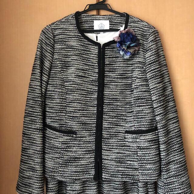 3can4on(サンカンシオン)の卒業式&入学式♡ ツイードフォーマルスーツ  レディースのフォーマル/ドレス(スーツ)の商品写真