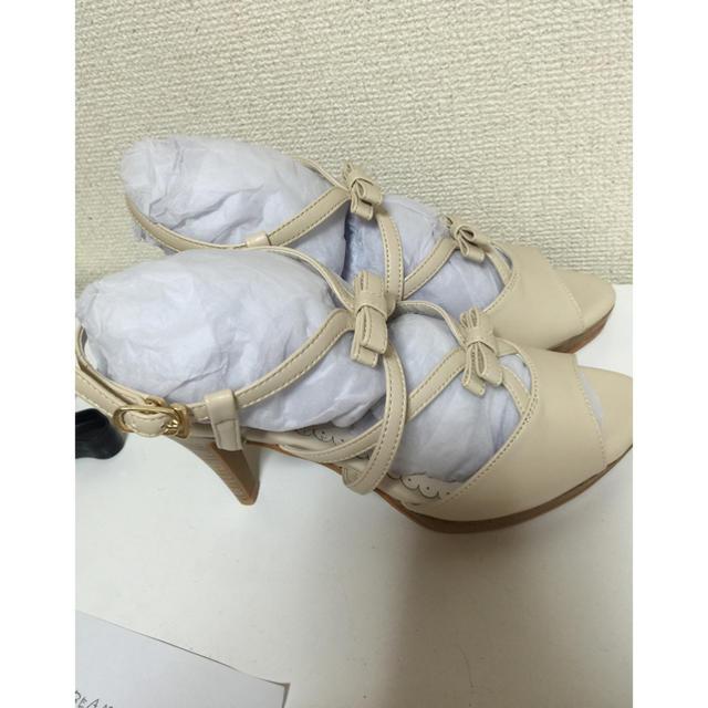 MISCH MASCH(ミッシュマッシュ)のミッシュマッシュ 新品サンダル白 L レディースの靴/シューズ(サンダル)の商品写真