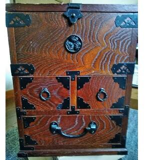 レトロ 化粧箱(鏡付き) (メイクボックス)