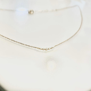 テイクアップ(TAKE-UP)の【美品】TAKE-UP ダイヤモンド ネックレス K10(ネックレス)
