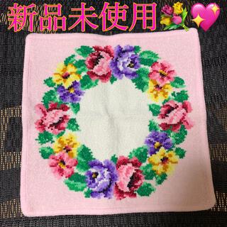 FEILER - 新品未使用♡FEILERフェイラー花柄ハンカチ花束ピンク紫ブーケ薔薇ローズ