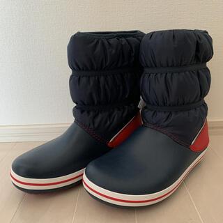 crocs - クロックス  スノーブーツ ネイビー×レッド 20cm