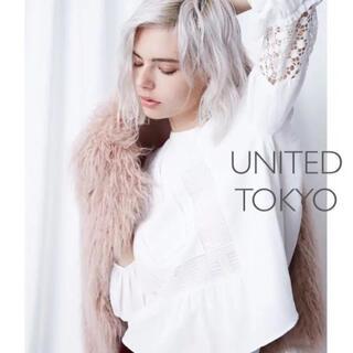 STUDIOUS - 【訳あり】UNITED TOKYO ブラウス レース ホワイト 白