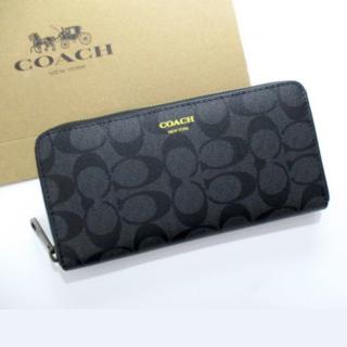 COACH - コーチ F74597 メンズ 長財布  ブラック 大容量  COACH