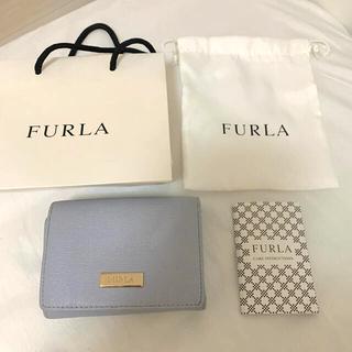 Furla - FURLA 折りたたみ財布 サックス
