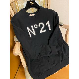 N°21 - ヌメロヴェントゥーノ ロゴ入り トレーナー 38 スパンコール