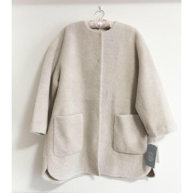Mila Owen(ミラオーウェン)のミラオーウェン ノーカラーシャツカーブボアジャケット レディースのジャケット/アウター(ノーカラージャケット)の商品写真
