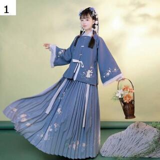 コスプレ 漢服 中華風 中国伝統服 新年 撮影用 着物 女子 普段着 xia1(衣装一式)