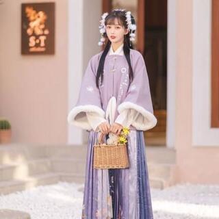 コスプレ 漢服 中華風 中国伝統服 新年 撮影用 着物 女子 普段着 xia2(衣装一式)