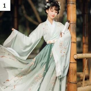コスプレ 漢服 中華風 中国伝統服 新年 撮影用 着物 女子 普段着 xia4(衣装一式)