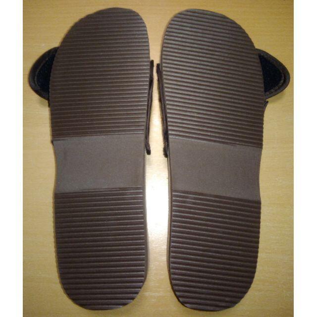 健康サンダル スリッパ 足つぼ 足裏 天然石 ブラウン 茶色 24.5-25cm レディースの靴/シューズ(サンダル)の商品写真
