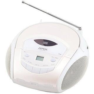 未使用品ゼピール ポータブルポータブルCDラジオ  ワイドFM対応
