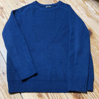nano・universe - ナノユニバース  紺色ニットセーター