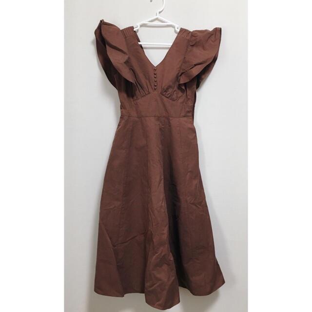 snidel(スナイデル)のherlipto Deep V back long dress レディースのワンピース(ロングワンピース/マキシワンピース)の商品写真