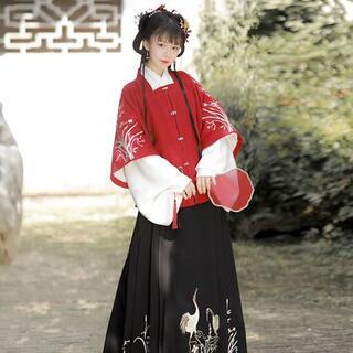 コスプレ 漢服 中華風 中国伝統服 新年 撮影用 着物 女子 普段着 xia8(衣装一式)