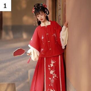 コスプレ 漢服 中華風 中国伝統服 新年 撮影用 着物 女子 普段着 xia10(衣装一式)