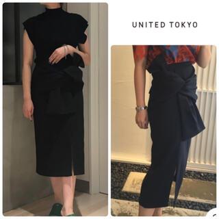 STUDIOUS - UNITED TOKYO デコラティブノットスカート1 ブラック