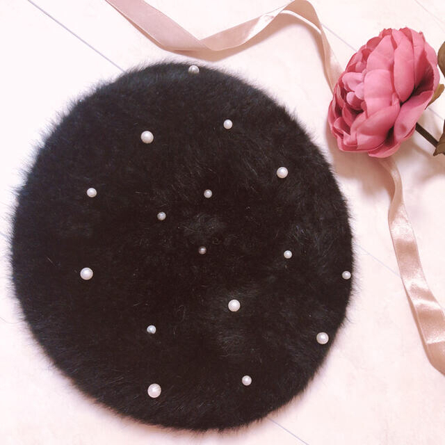 snidel(スナイデル)のパール スタッズ ベレー帽 レディースの帽子(ハンチング/ベレー帽)の商品写真