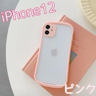 大人気★ ケース バンパースマホケース iPhone12 ピンク(iPhoneケース)