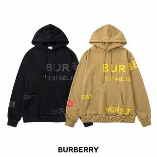 BURBERRY - 0603バーバリー# パーカー ロゴ 男女兼用 2点12000円