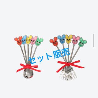 ディズニー(Disney)のディズニー ミッキーバルーン 風船 スプーン フォーク セット販売(カトラリー/箸)