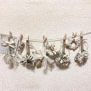 teruteru様専用❗️✿ゴールド星ホワイト*シースルー(ドライフラワー)