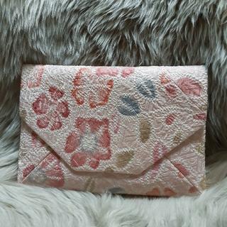 未使用 新品 御朱印帳 数寄屋袋 絞り 花 ピンク 正絹(和装小物)