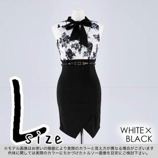 デイジーストア(dazzy store)の【未開封】ボウタイリボンベルト付きタイトミニドレス 黒(ナイトドレス)