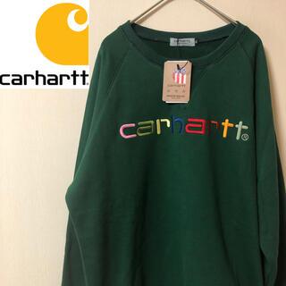 carhartt - 【新品未使用タグ付き!】カーハート 胸元虹色刺繍ロゴ クルーネック スウェット