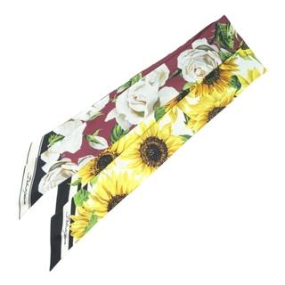 ドルチェアンドガッバーナ(DOLCE&GABBANA)のドルチェアンドガッバーナ ツイリー 2枚セット 花柄/ヒマワリ F(バンダナ/スカーフ)