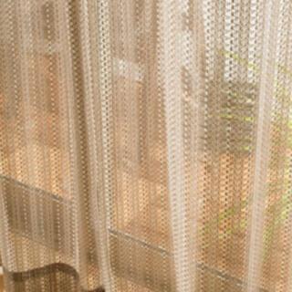 【専用】ざっくり編みカーテン(100×176センチ)2セット(レースカーテン)