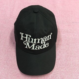 A BATHING APE - girls don't cry human made TWILL CAP 黒