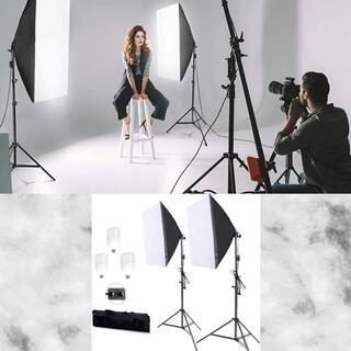 初心者でも簡単手軽にプロの本格的なスタジオ撮影が行える♪❤️写真撮影照明用セット