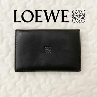 LOEWE - ロエベ LOEWE カードケース ブラック ラムスキン